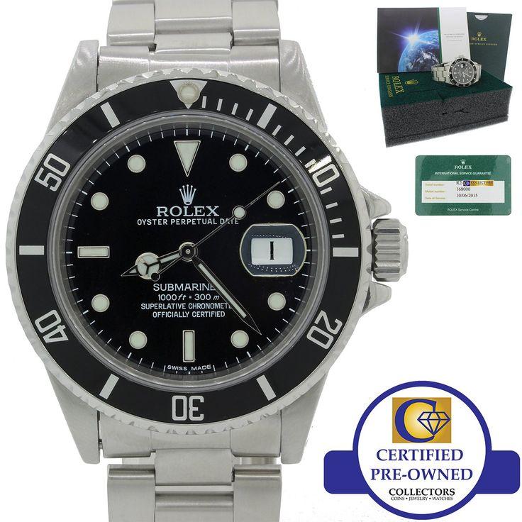 2015 Service TRIPLE 0 Rolex Submariner Date 168000 Steel 16610 Black Watch B&P