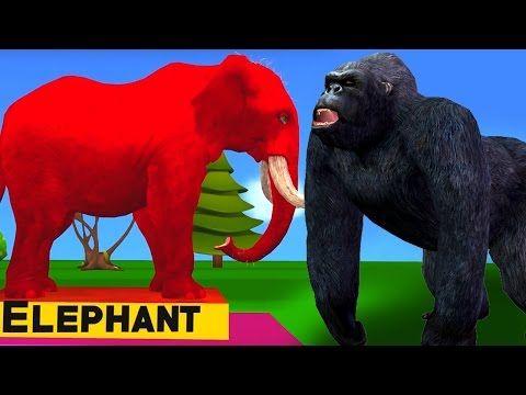 (2) Dinosaur Vs Gorilla | Finger Family Rhymes | Kids Preschool Learning Songs | Children Nursery Rhymes - YouTube