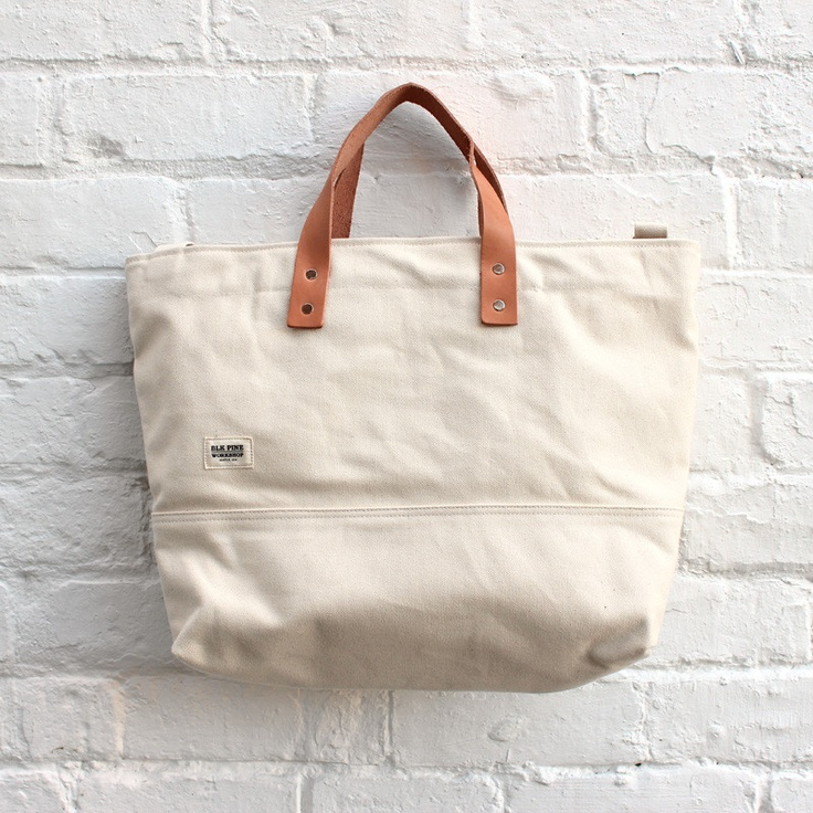 BLK Pine Workshop - Medium Tote Bag - Natural Canvas - £84.99
