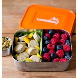 Duo Stainless Steel Food Container (3 colors) - The Lunchbots Duo is the ultimate stainless steel food container for snacks and/or lunch. It features three sections for those who love variety. Perfect for lunchboxes! This plastic-free lunch and snack containers are made from the highest quality 18/8 stainless steel.