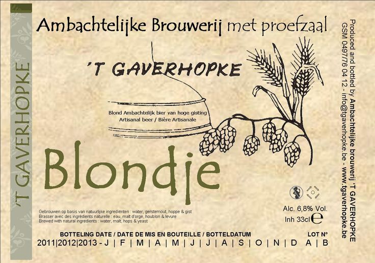 't Gaverhopke - Blondje