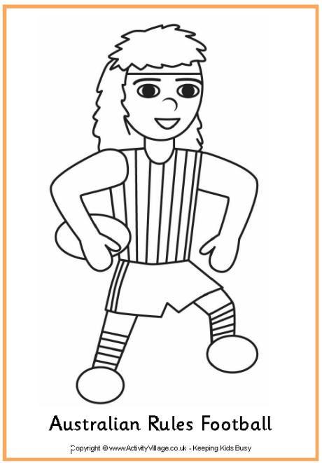 afl football coloring pages - 9 best afl images on pinterest aussies australian men