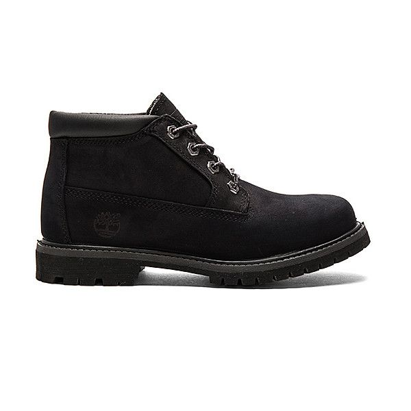 Timberland Nellie Boot Shoes (85.885 CLP) ❤ liked on Polyvore featuring shoes, boots, ankle booties, rubber sole boots, leather upper boots, laced booties, laced boots and laced up booties