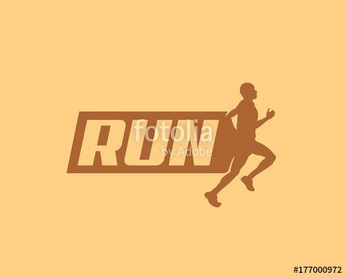 Vector: run vector logo, run banner