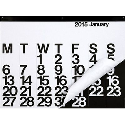 The 2015 Stendig calendar - Designed by Massimo Vignelli in 1966, the Stendig Calendar was immediately added to the Design Collection of the Museum of Modern Art in New York.