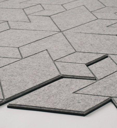 A Smarter Rug Modular Sustainable Felt Tiles Design