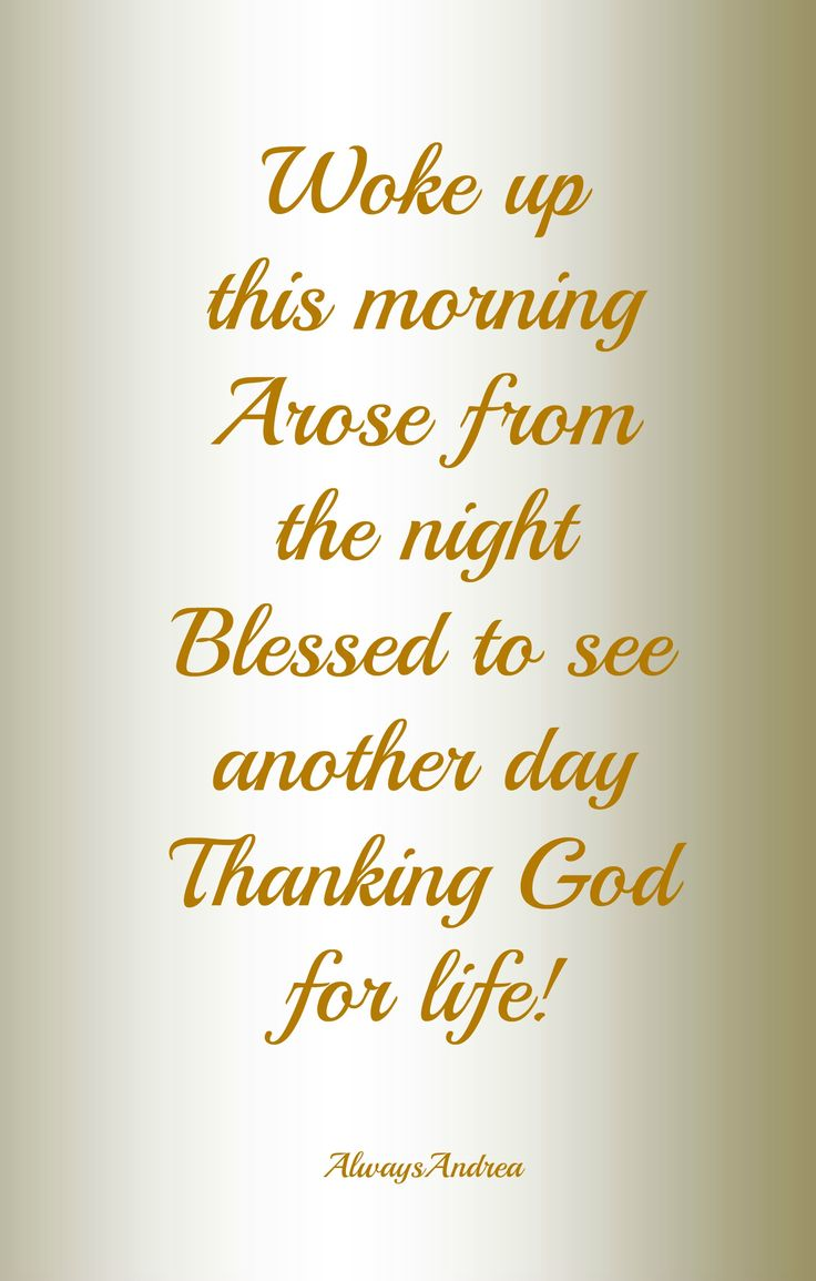 Gratitude: grateful to God, for granting me the gift of life; yet, another day.