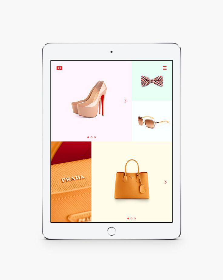 Cайт компании Brandpics, отображение на планшете