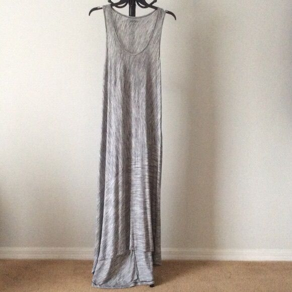 "SALE NWT Shades of grey full length dress High low dress - back of dress longer than front. From mid-back, length is ~57"".  qththvx Apt. 9 Dresses"