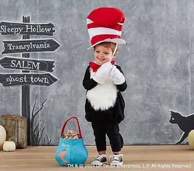 NEW POTTERY BARN KIDS DR. SEUSS CAT IN HAT HALLOWEEN COSTUME 2T-3T SOLD OUT 2T 3
