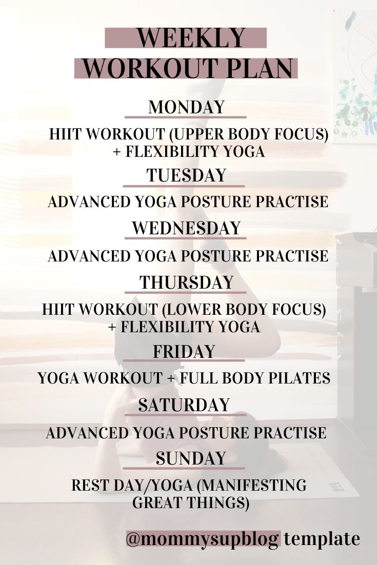 Workout Plan At Home Yoga Fitness Best Results Mommysup Weekly Workout Plans Workout Plan Weekly Workout