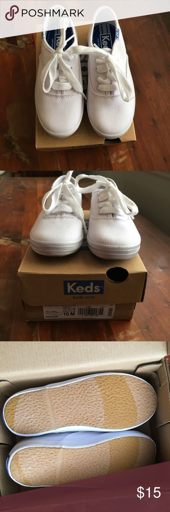 NWT Kids White Keds Classic white keds. Great for fall dressing up as a cheerleader and into spring with cute dresses. New worn. Smoke and pet free home. Keds Shoes Sneakers