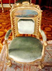 National Palace of Ajuda<br /> - Mobília da Nau (dez cadeiras de braços e um canapé)