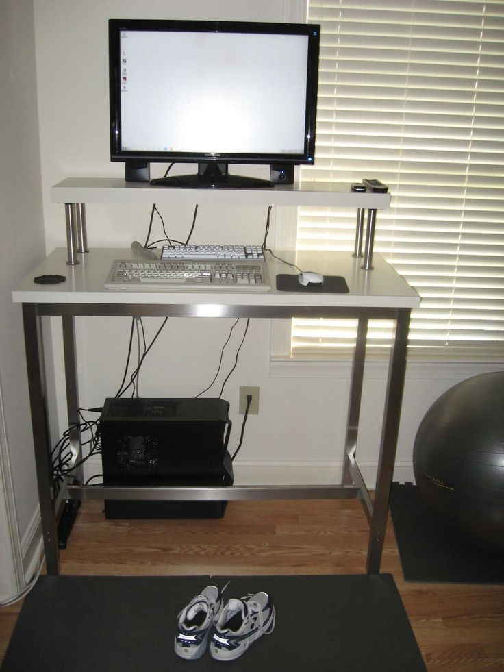 Drawing of Monitor Stands from IKEA for Proper Monitor Positions Which Enable You to Have a Comfy Working Space