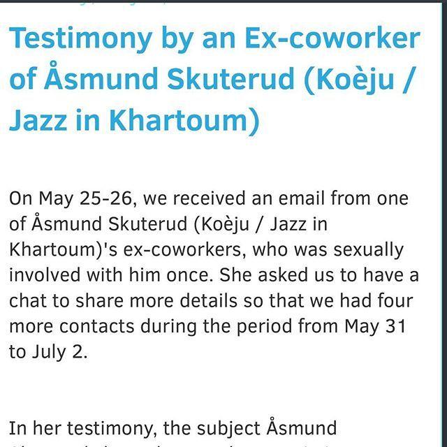 For details, please visit our blog.   www.asmundskuterud.blogspot.com/ncr  #åsmund #skuterud #koeju #koèju #asmundskuterud #victims #hpv #jazzinkhartoum #khartoumcontemporaryartcenter #khartoumcontemporary  #kcac
