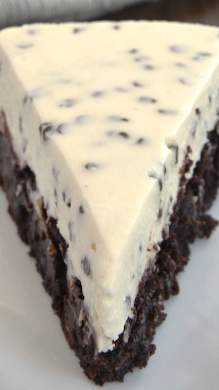 Chocolate Chip Cheesecake with Brownie Crust Recipe