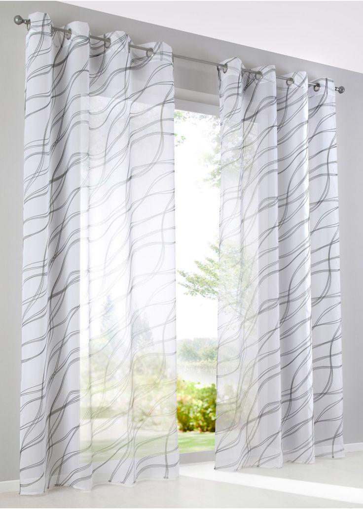 Bekijk nu:Dit gordijn in moderne stijl geeft je ramen een luchtig lichte touch en transparantie. De print is tijdloos en in de trendy kleurencombinatie zwart en wit. Het design is vrij neutraal en past in vele interieurs.