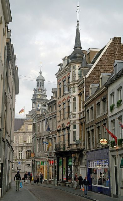 The city streets of Maastricht