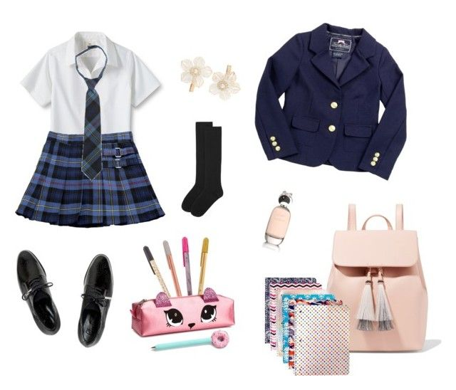 """school"" by nanaristha on Polyvore featuring Lands' End, French Toast, Dear Frances, Accessorize, Loeffler Randall, Comme des Garçons and Monsoon"