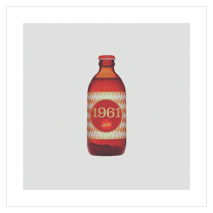 The 'Stubby' retro 1960s edition art poster from ManMade Art appeals to our love of beer and brings back memories of the glory years when the quirky Canadian bottle reigned supreme. Great as a gift for men, or decoration for a condo, apartment or man-cave!