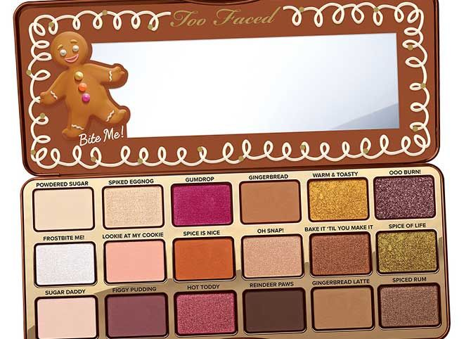 Paleta Too Faced Navidad Gingerbread Paleta De Sombras De Ojos Paleta De Sombras Paletas De Maquillaje