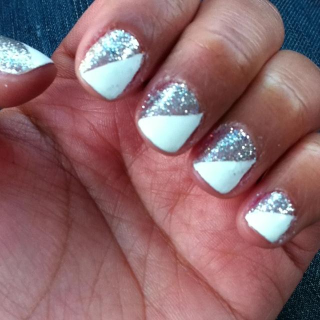 white/sparkleNails Nails, Every Girls, Beautiful Nails, Awesome Nails, Nails Design, Extreme Nails, Pretty Nails, Nails Polish, Creative Nails