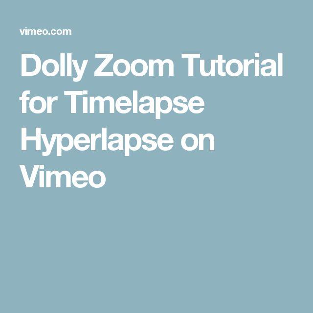 Dolly Zoom Tutorial for Timelapse Hyperlapse on Vimeo