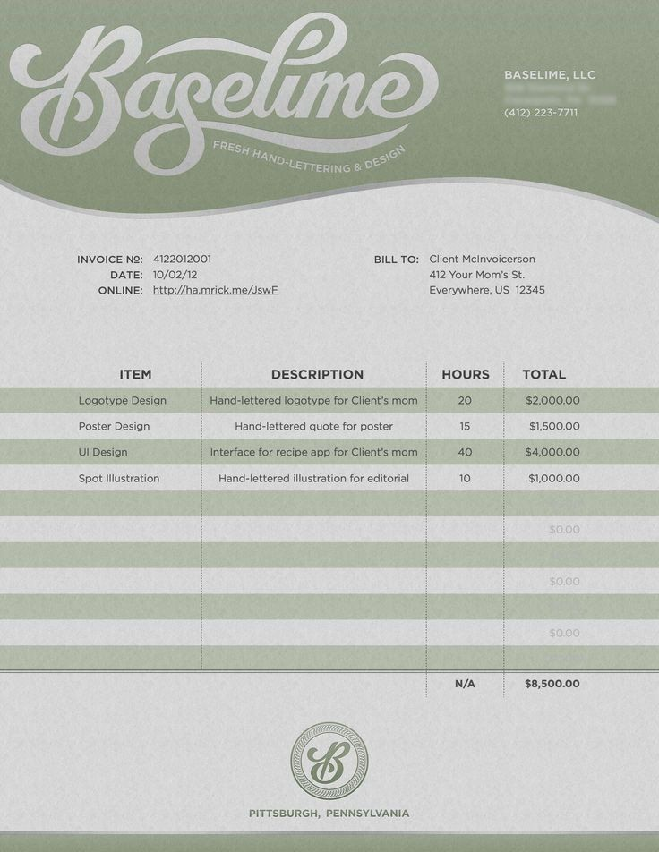 10 best invoice branding ideas images on Pinterest Invoice - invoice for you