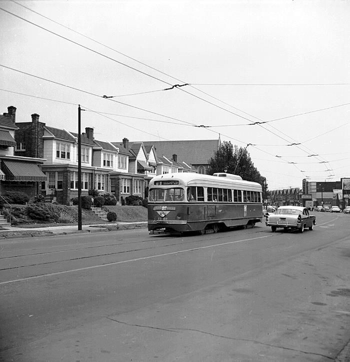 PTC Rt.6 Trolley On Ogontz Ave.