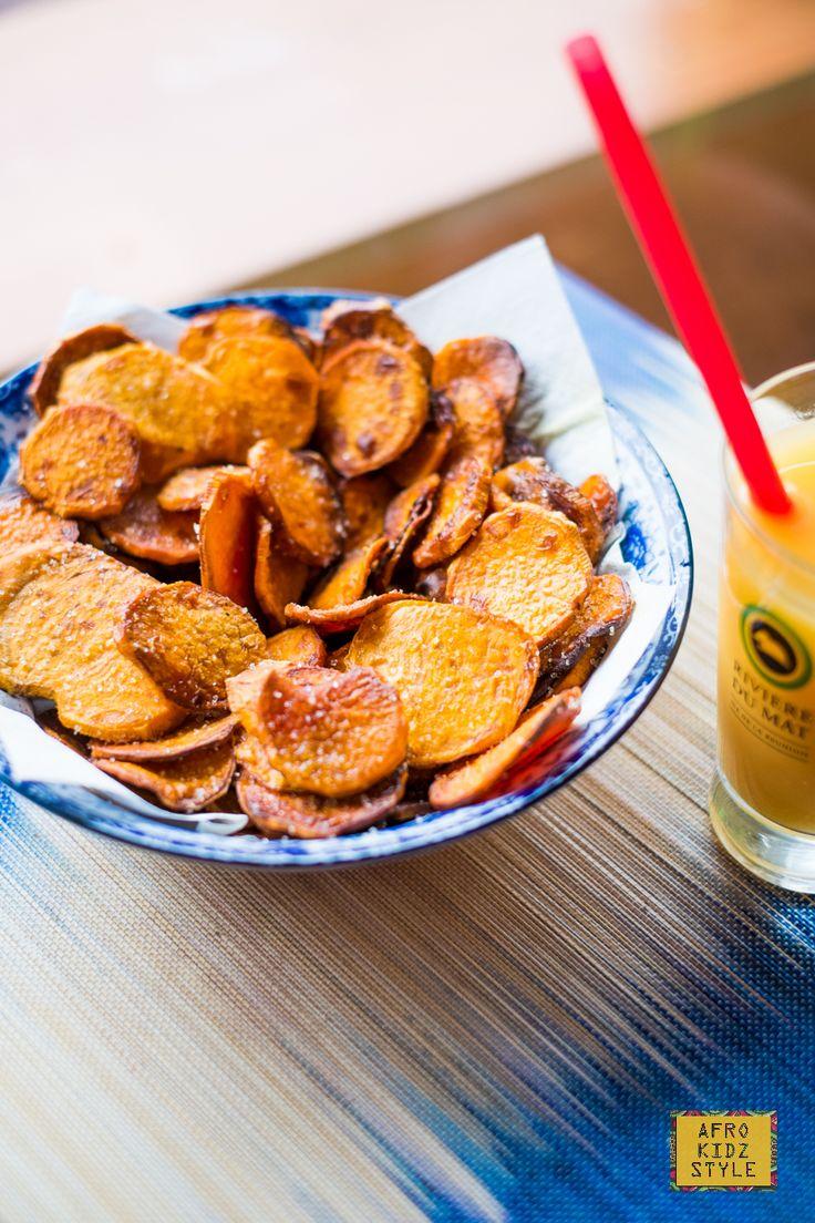 Chips de patates douces sucrées pour un goûter croustillant