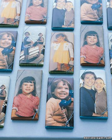 Chocolate Bars Favors with Photos