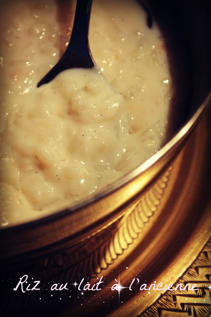 riz au lait à l'ancienne, au multicuiseur
