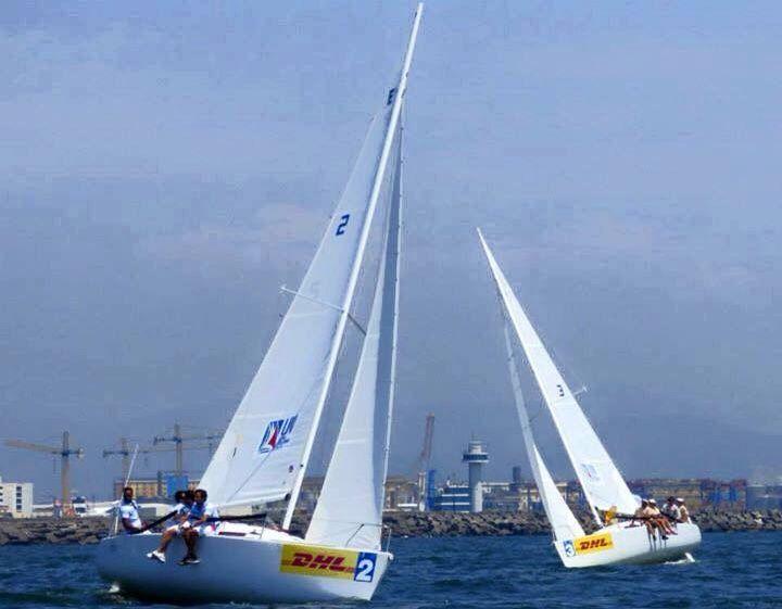 La barca dello #Yacht Club #Capri in gara 2 durante la Italian #Sailing Champion 2015