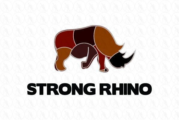 Strong Rhino - $300 http://www.stronglogos.com/product/strong-rhino #logo #design #sale #hardware #outdoor #equipment #store #mover #trucker