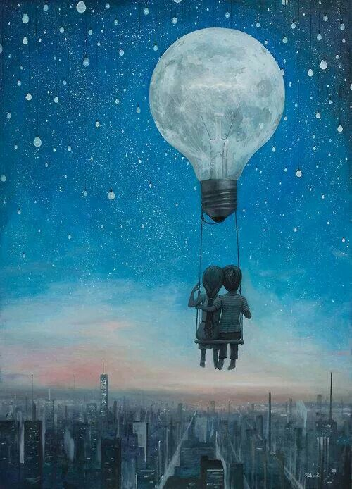 An idea can take you to unimaginable heights! Artist:: Adrian Bordas