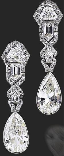 Art Deco Diamond Earrings 1920