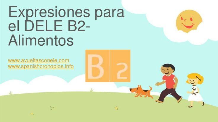 Expresiones para el DELE B2- Alimentos