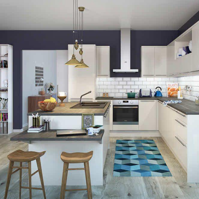 This Cosy and colourful kitchen would be perfect for a family get together.