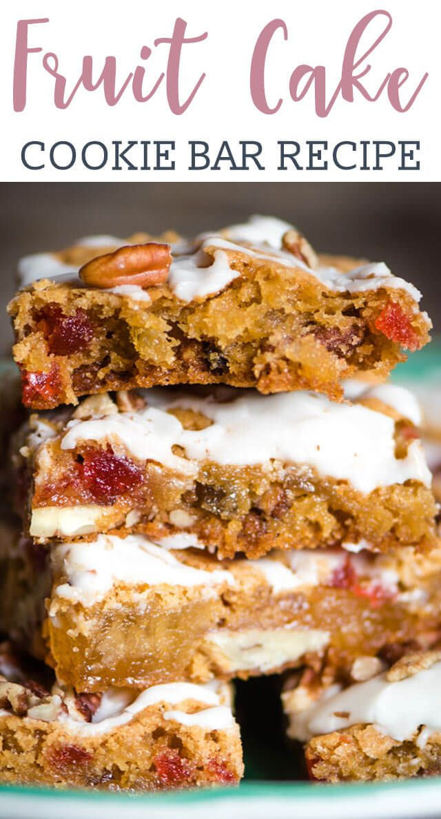 These Chewy Fruit Cake Cookie Bars Will Melt In Your Mouth This