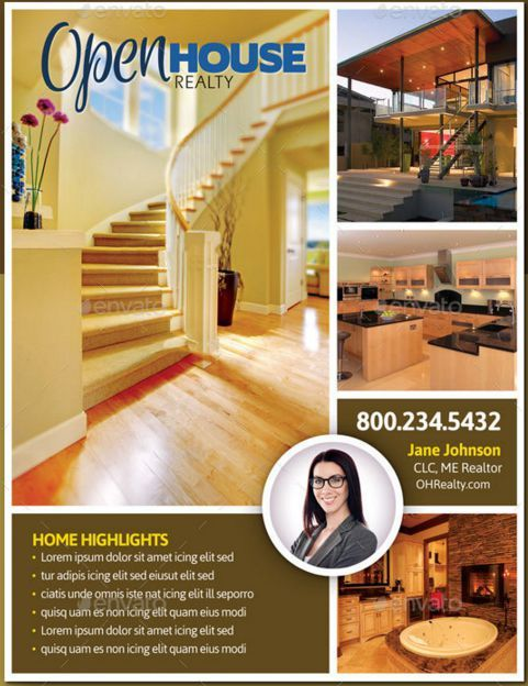 17 best ideas about open house brochure on pinterest for Open house brochure template