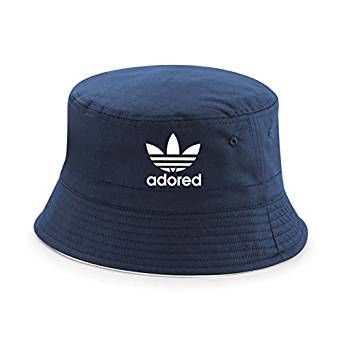 The Stone Roses Adored Bucket Hat Ian Brown Spike Island 25th Anniversary Tribute Bucket Navy Reni (L/XL, Navy)