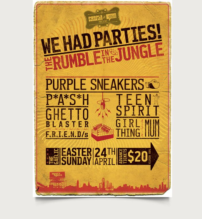 P*A*S*H / Purple Sneakers - Rumble In The Jungle