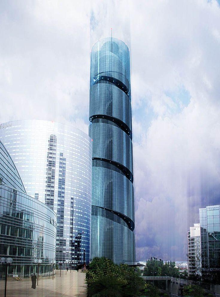 La Tour Sans Fin proposed by Jean Nouvel for the La Defense district of Paris The tower was