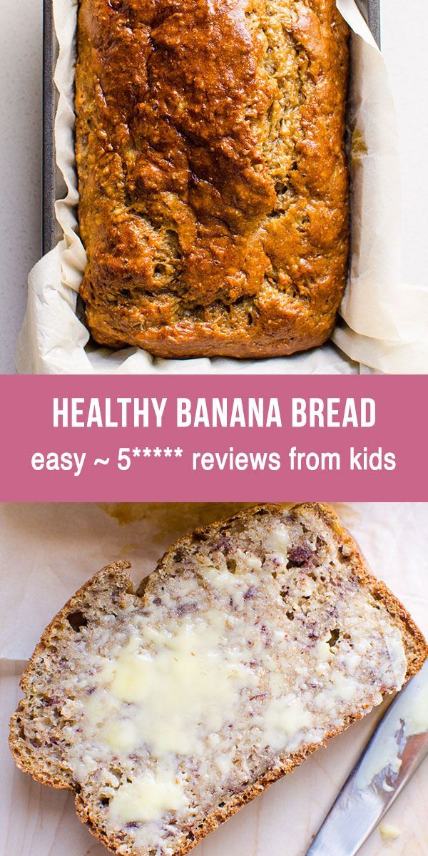 Healthy Banana Bread With Applesauce Whole Wheat Flour Maple Syrup And No Banana Bread Recipe Easy Healthy Easy Banana Bread Recipe Banana Bread Healthy Easy