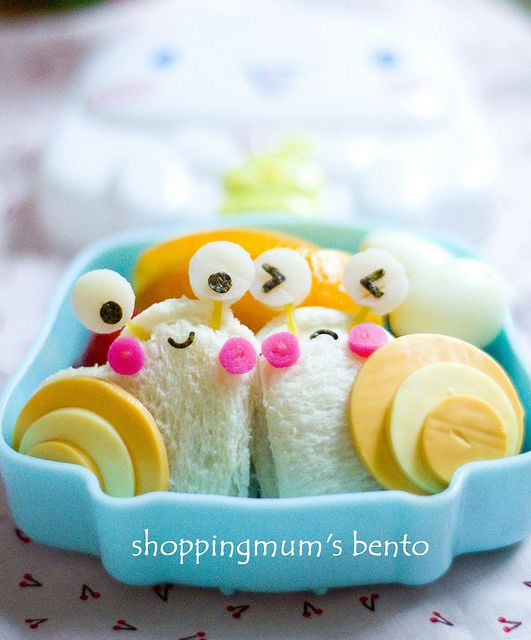 adorable snail bento box!