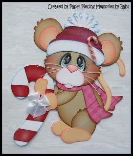 Peppermint Pals created by PAPER PIECING MEMORIES BY BABS, pattern by Cuddly Cute Designs