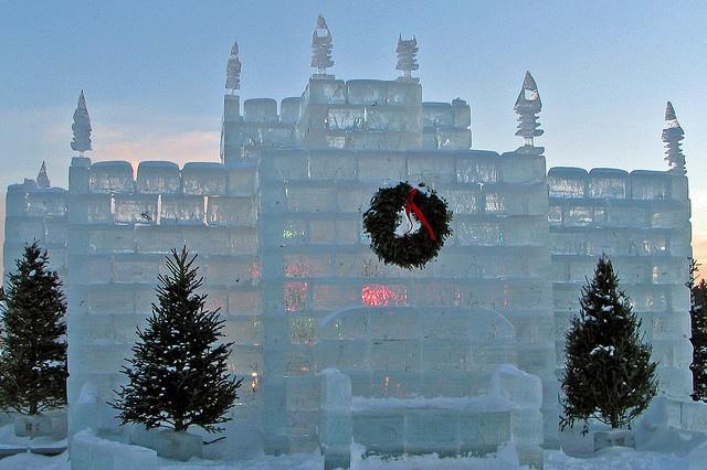 Ice Castle Eagle River, Wisconsin.
