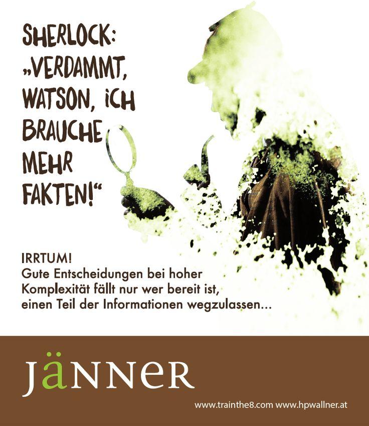 """Das neue Calendarium - """"I am Sherlocked"""": Wirkungsvoll in einer komplexen Welt - JÄNNER: """"Der Irrrtum mit den Fakten"""" Quelle: Wallner & Schauer GmbH, Web: www.trainthe8.com Blog: www.hpwallner.at  Erhältlich auf AMAZON!"""