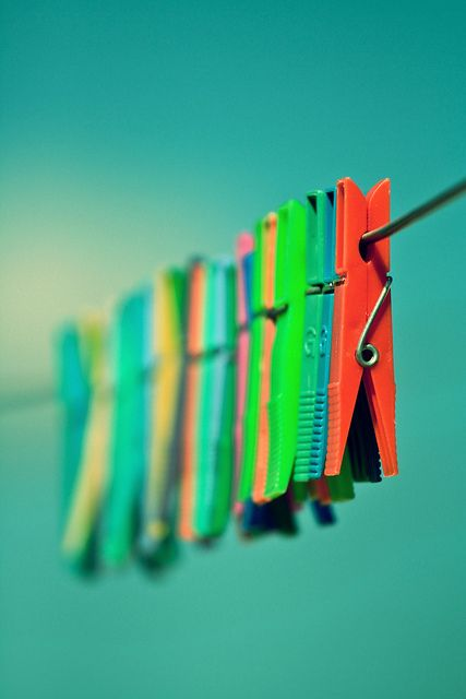We used to hang clothes off the clothes line when I was a little girl.