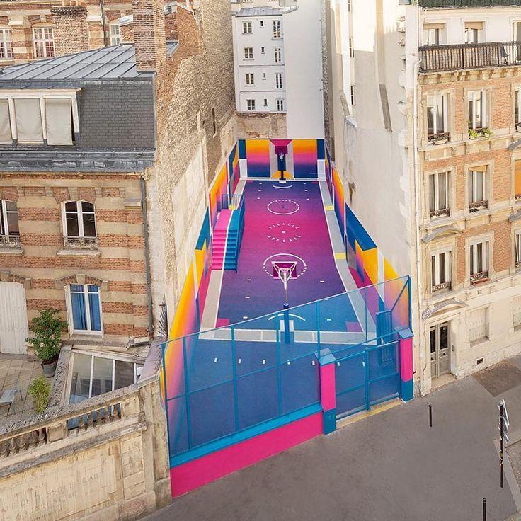 A basketball court designed by @illstudio Ill-Studio & Pigalle with the support of Nike.  Photography by @sebastienmichelini  #streetart #graffiti #art #urban #urbanart #museum #artsy #artistic #mural #arts #wallporn #photooftheday #contemporaryart #picoftheday #instadaily #artwork #arte #artist #spraypaint #publicart #outdoorart #tmoua #graffitiporn #artlife #basketball #paris #france